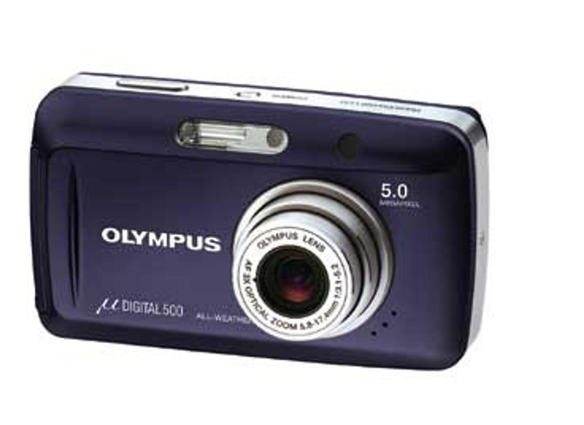 VELG FARGE: Så lenge du holder deg til sølv eller marineblått kan du selv velge farge på den nye Olympus µ DIGITAL 500.