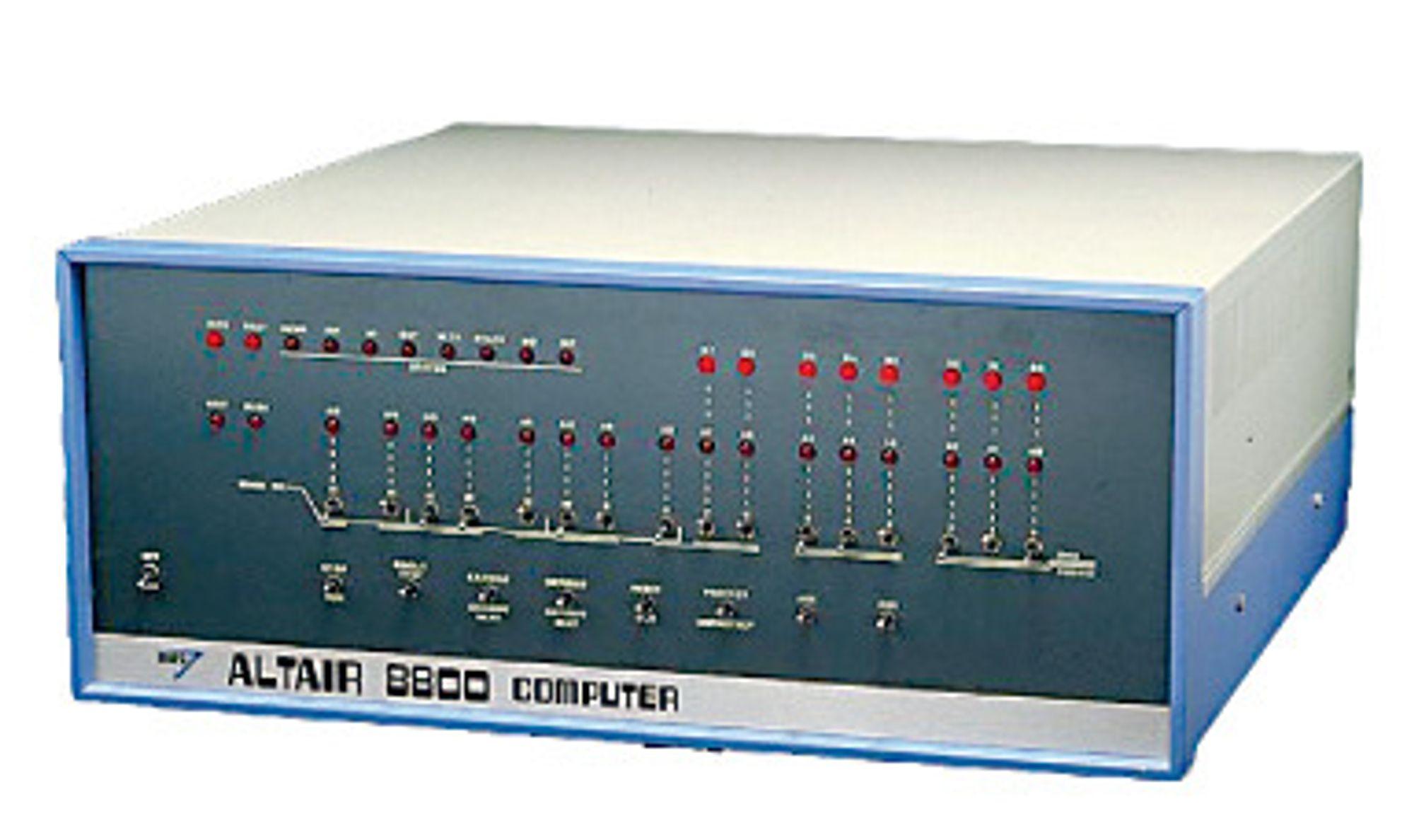 FORSIDE: Altair 8800 prydet forsiden av Popular Electronics¿ januarnummer i 1975.