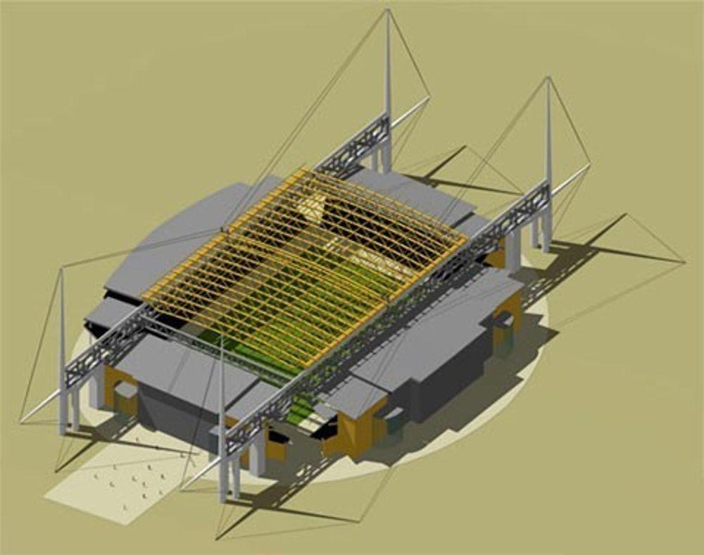 Slik planlegges taket over Lerkendal stadion i Trondheim.