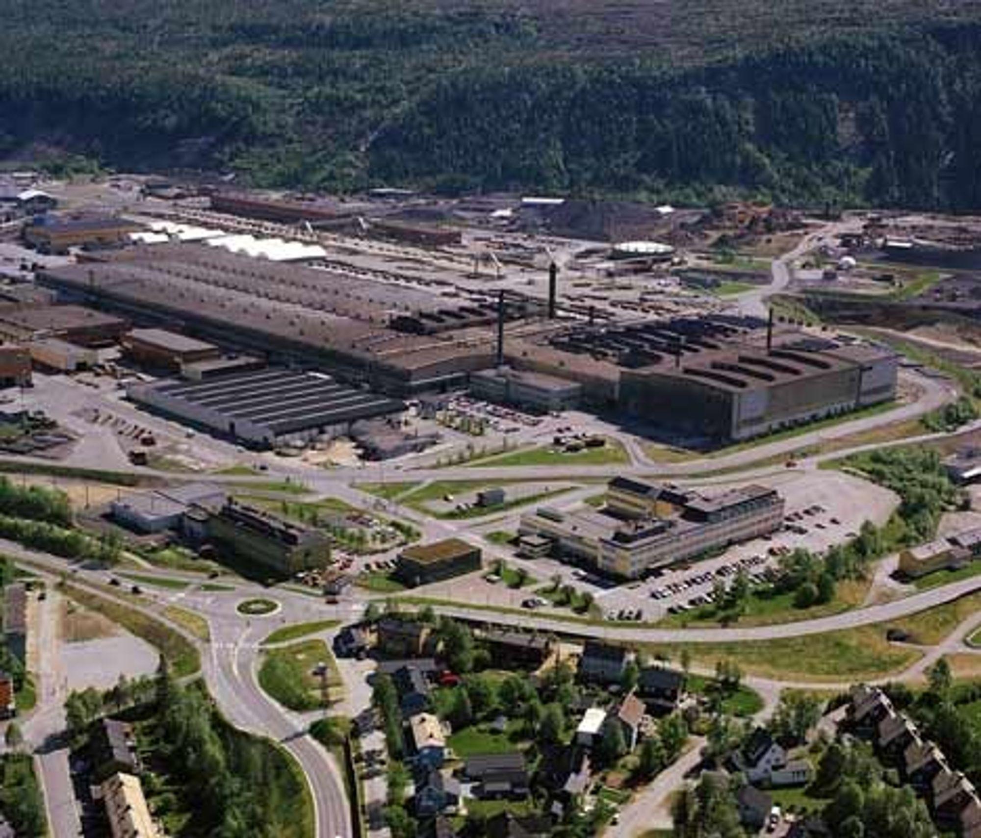 Det er rundt 100 bedrifter med over 2000 ansatte i Mo Industripark i Rana. Foto: MIP Info