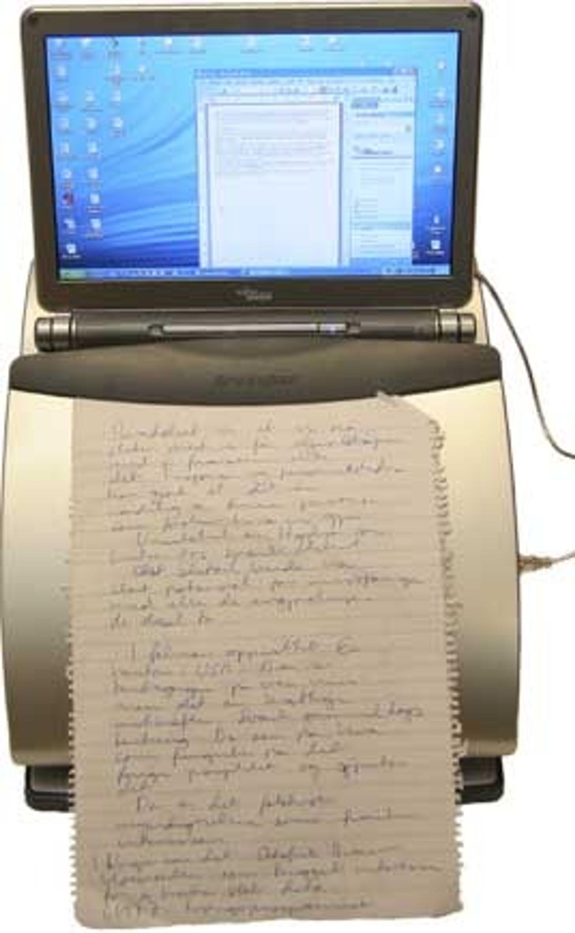 Notebook Station fra Kensington, med klips for notater.