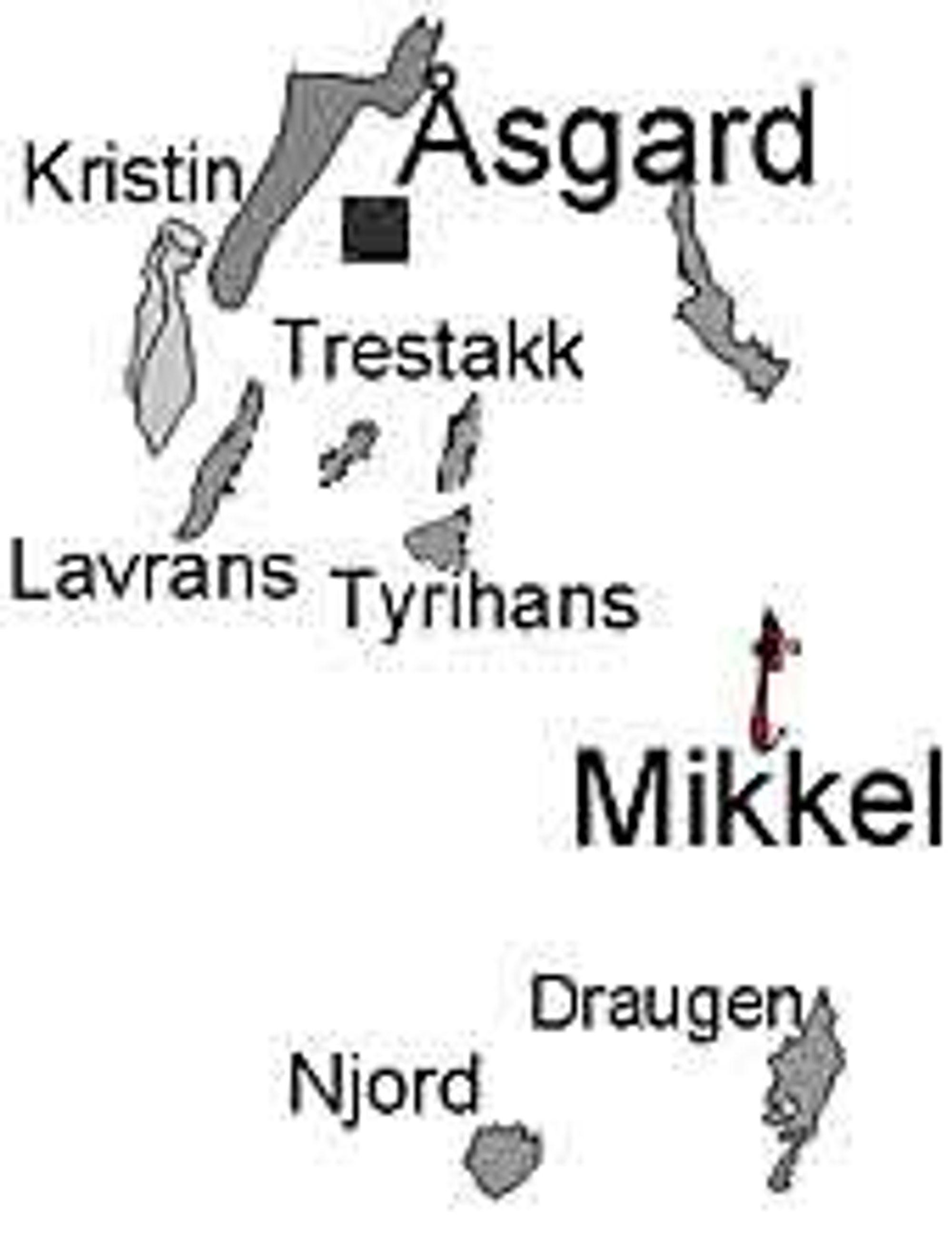 Bunnrammene på Tyrihans ligger om lag 35 kilometer sørøst for Kristin-plattformen. Ill: Statoil