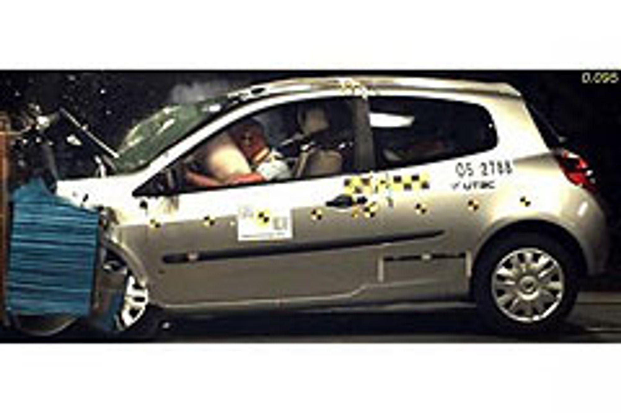 FARLIGERE: Den renaultbaserte Dacia Logan fra Romania er langt farligere å krasje med enn småbiler fra Renault i vest. FOTO: DACIA