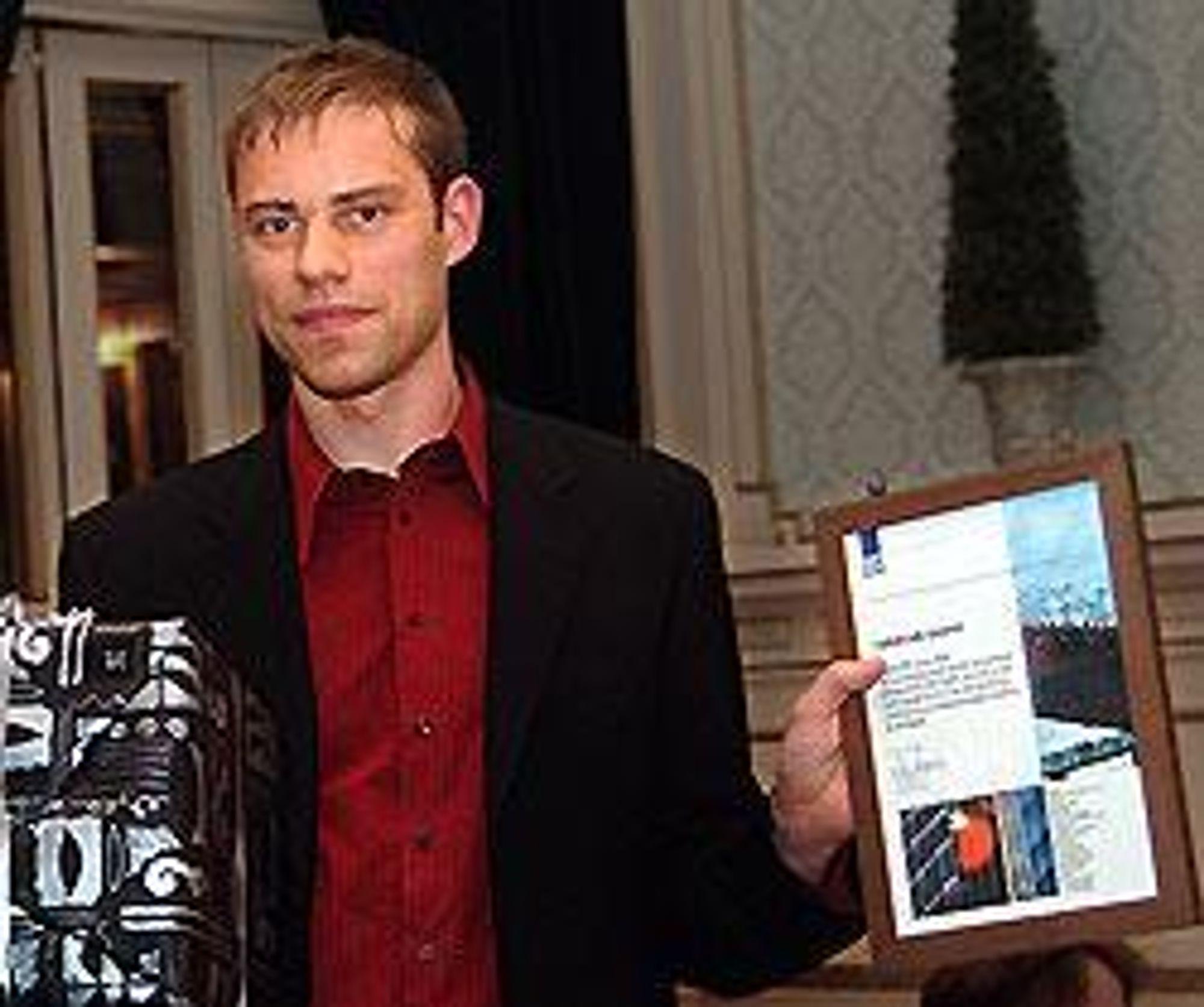 FREMADSTORMENDE: RIF kåret Christian Sageng til årets unge rådgiver. FOTO: RIF