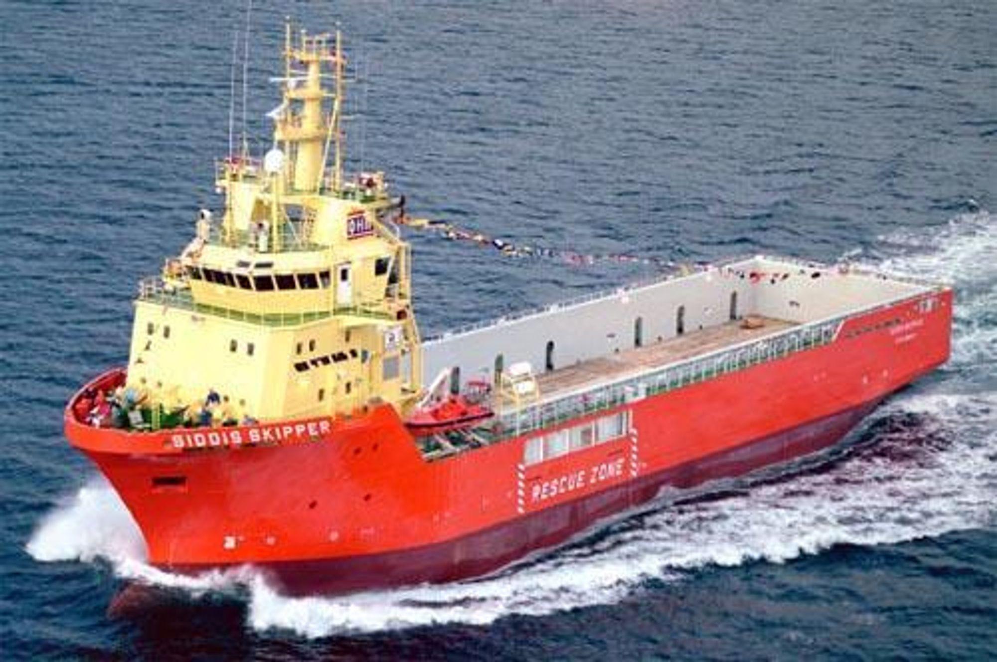 De fire forsyningsskipene Aker Brattvaag skal bygge for Siem blir v samme type som Siddis Skipper, som ble levert til OH Meling fra Kleven i fjor. Foto: Vik-Sandvik