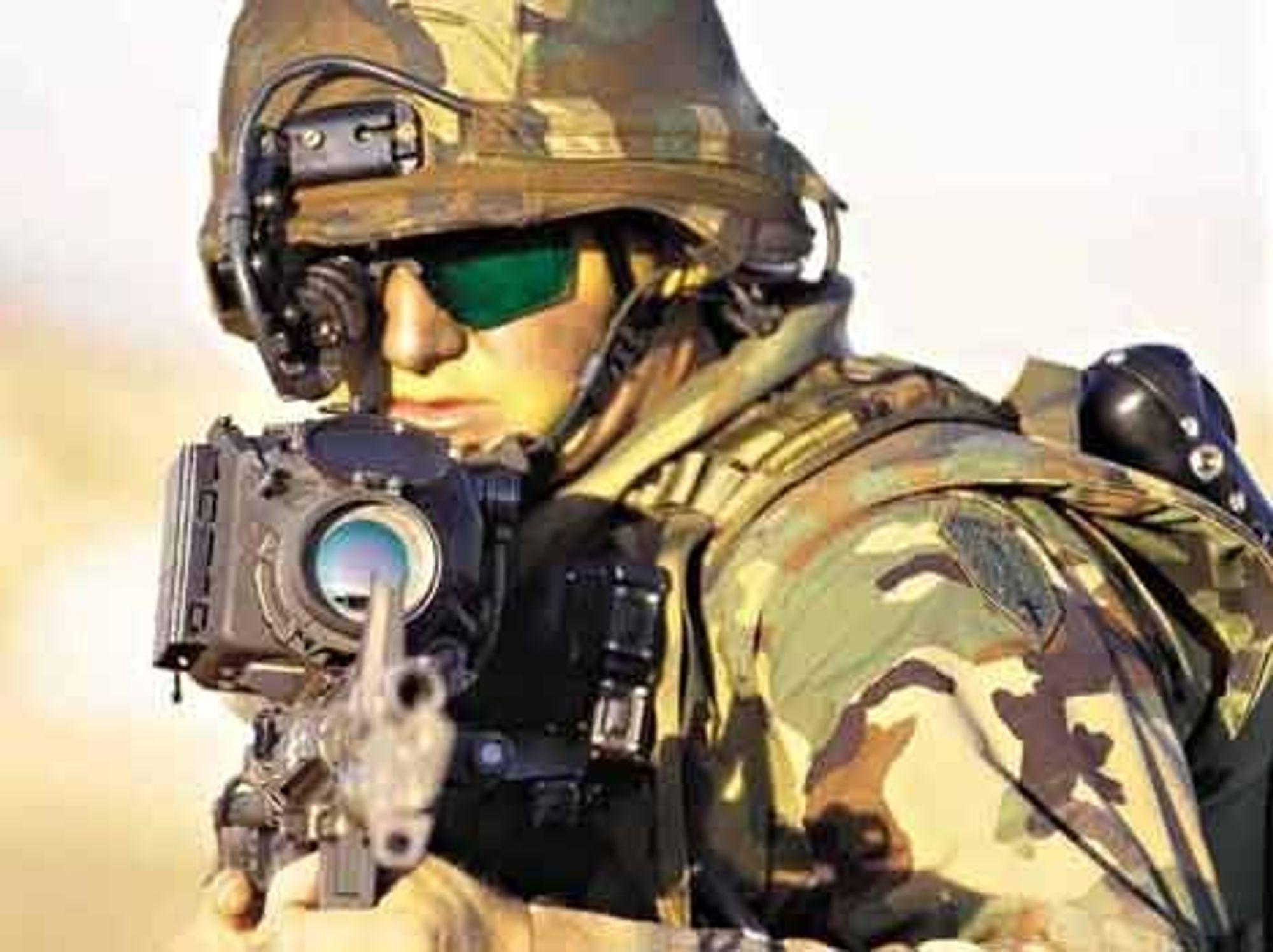 BEDRE UTSTYRT:Stort sett er koalisjonens soldater i Irak bedre utstyrt enn noensinne, med personlig panser (bryst, rygg, hode), bedre førstehjelpsutstyr, bedre radio og bedre håndvåpen. FOTO: BRITISH ARMY