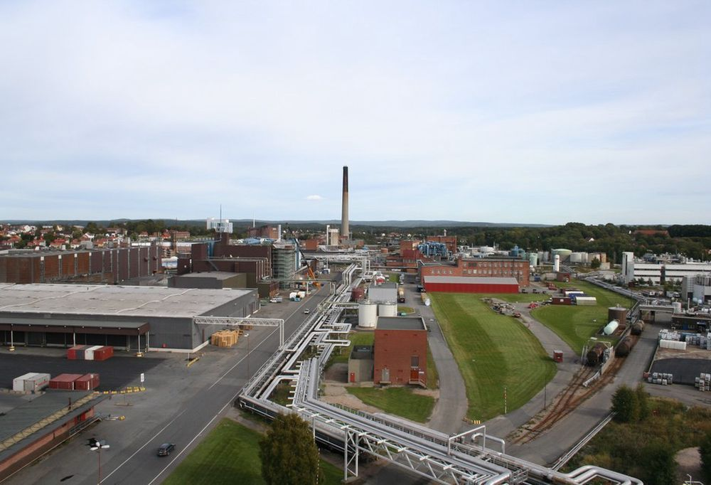 Borregaards fabrikk i Sarpsborg. --------(Orkla vil effektivisere Borregaard.)