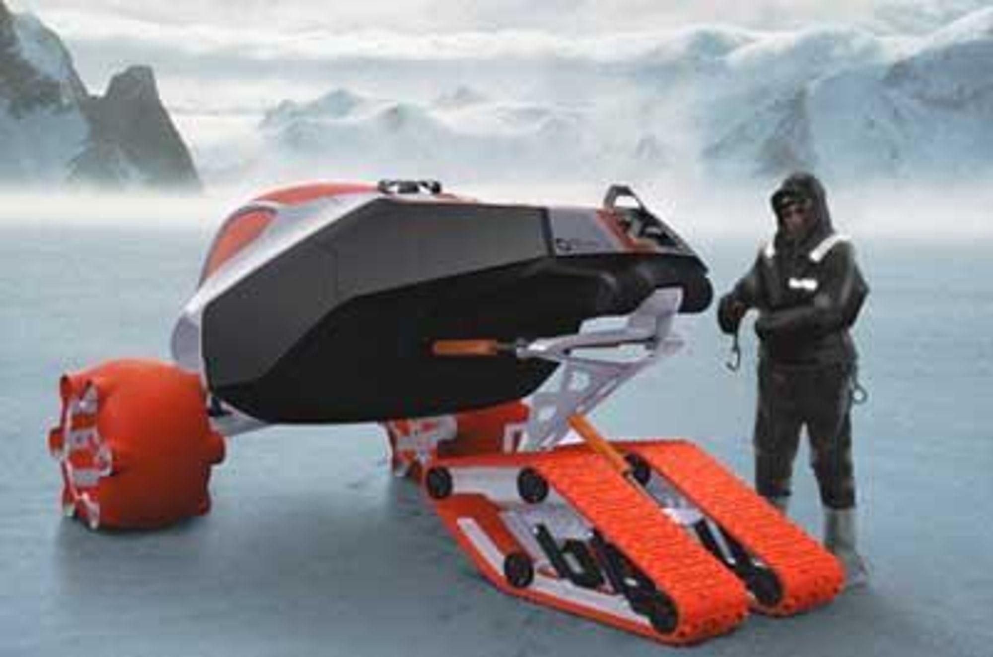 Er isen usikker, sender man bare ut en liten stifinner som sjekker forholdene før komfobilen kommer etter.