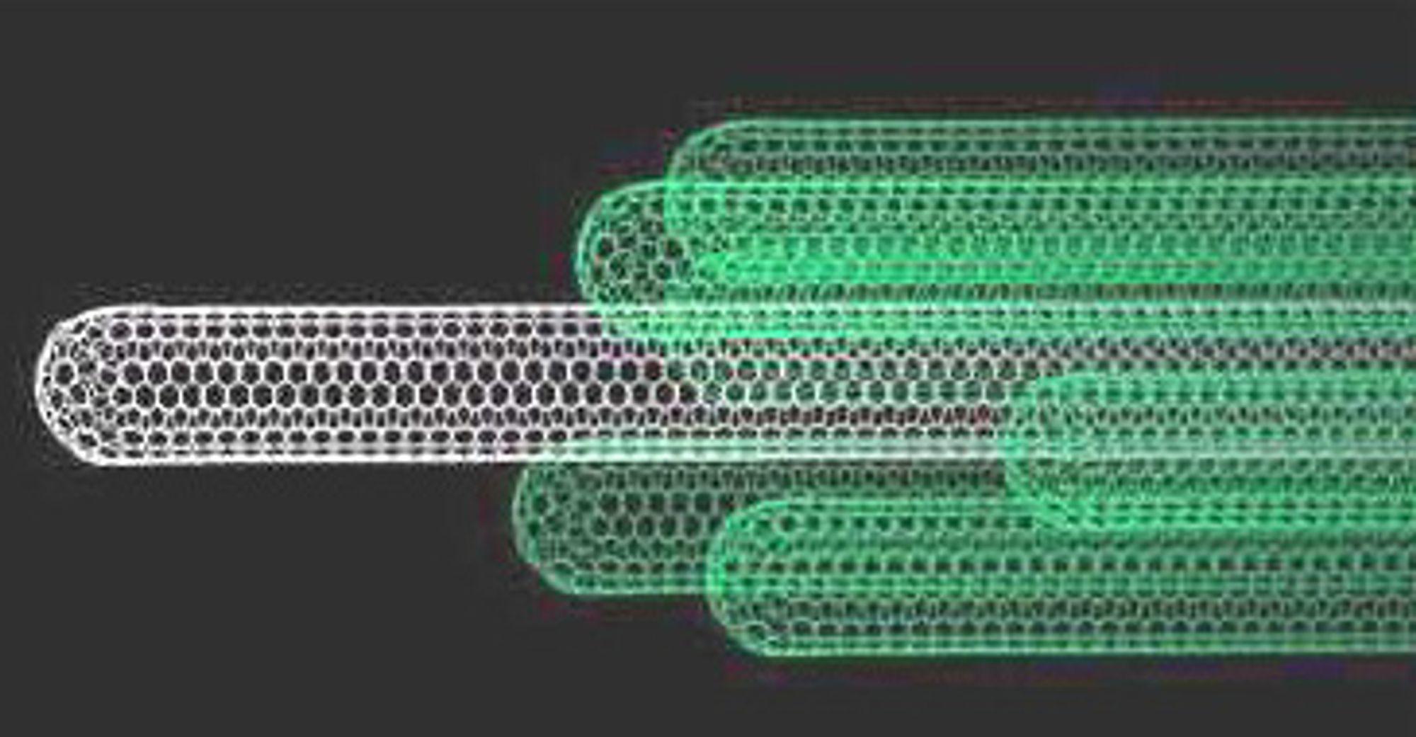 Nanorør med aktivt virkestoff kan bli framtidas viktigste medisinske verktøy. Ill: arkiv