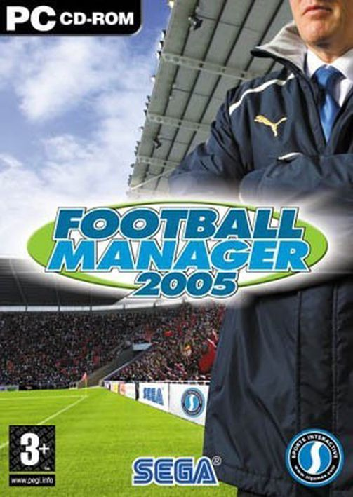 Segas PC-spill Football Manager 2005.