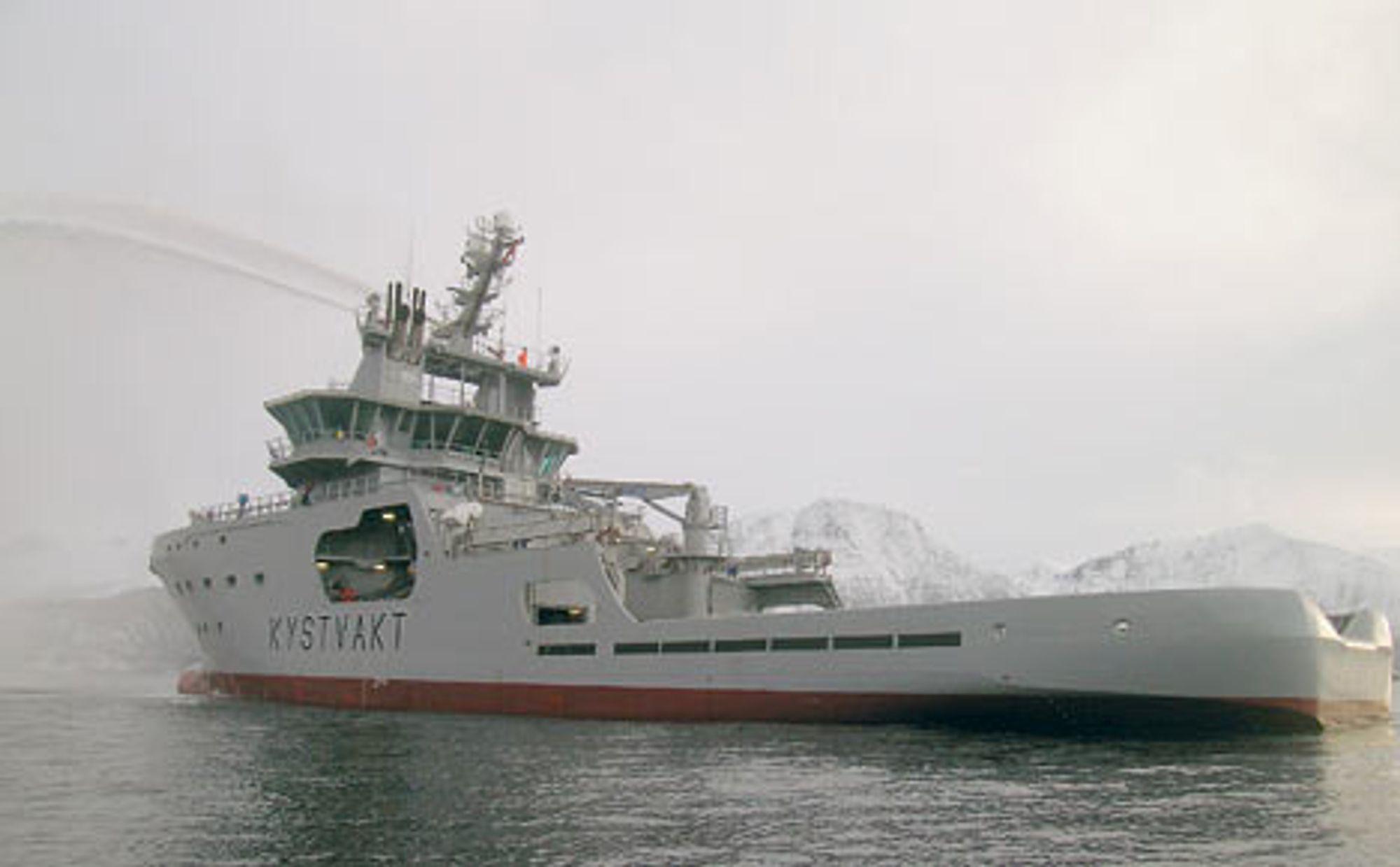 HELNORSK: Både design og all utrustning om bord er norsk. I midten av februar settes skipet i operativ tjeneste. FOTO: AKER YARDS