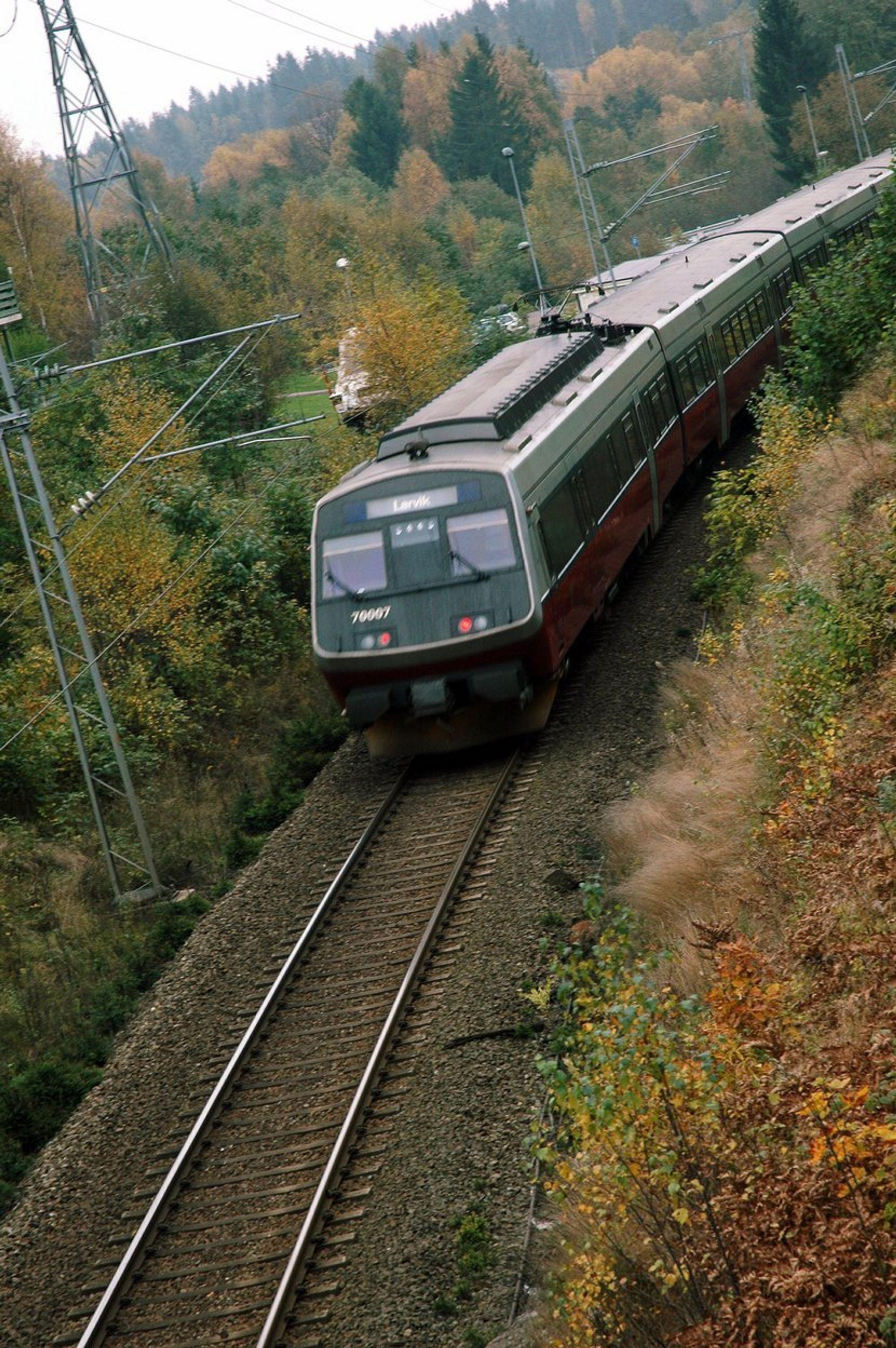 VINNEREN: Intercity-strekningen på Østlandet er den klare vinneren i den nye Jernbaneplanen.