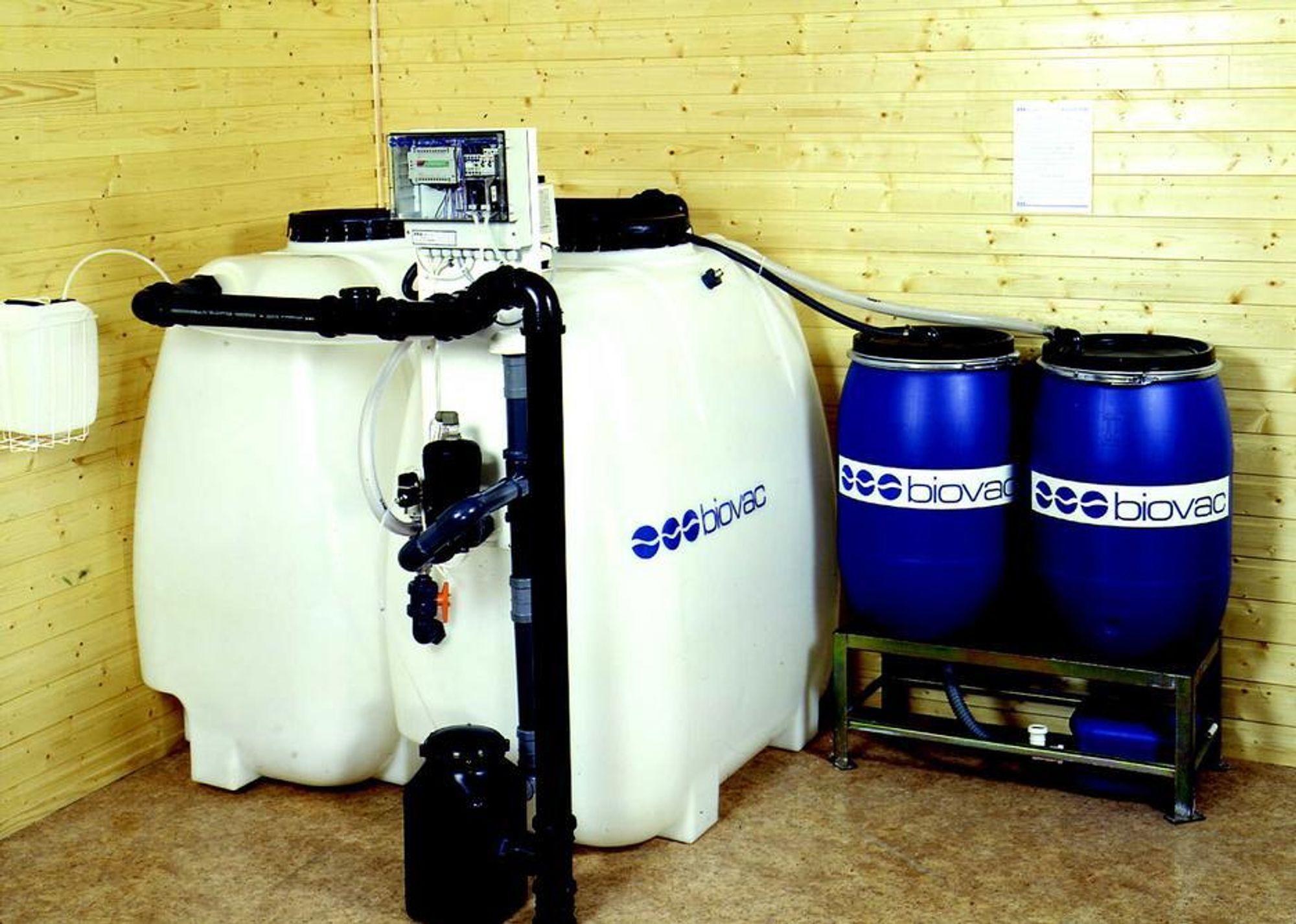 GODKJENT: Det er bare Biovac FD5 som er godkjent i strengeste klasse for rensing av avløpsvann fra fritidsbolig.