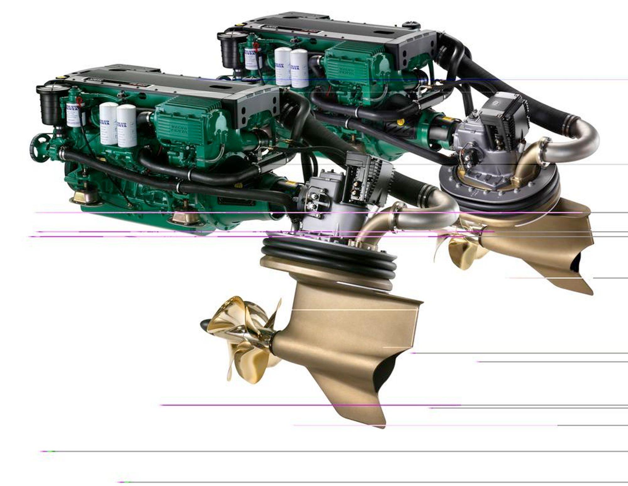 BEDRE MANØVRERING: Volvos nye drevløsning, IPS, gir bedre styre og manøvreringsegenskaper. ILL: VOLVO