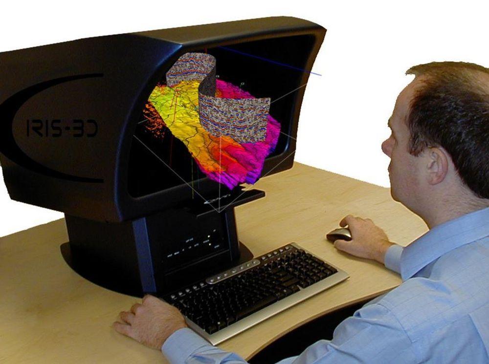 SKARP 3D: Superkraftige datamaskiner gjenskaper nå data i 3D og viser dem på fargeskjermer i vanlig kontormiljø. FOTO LPS
