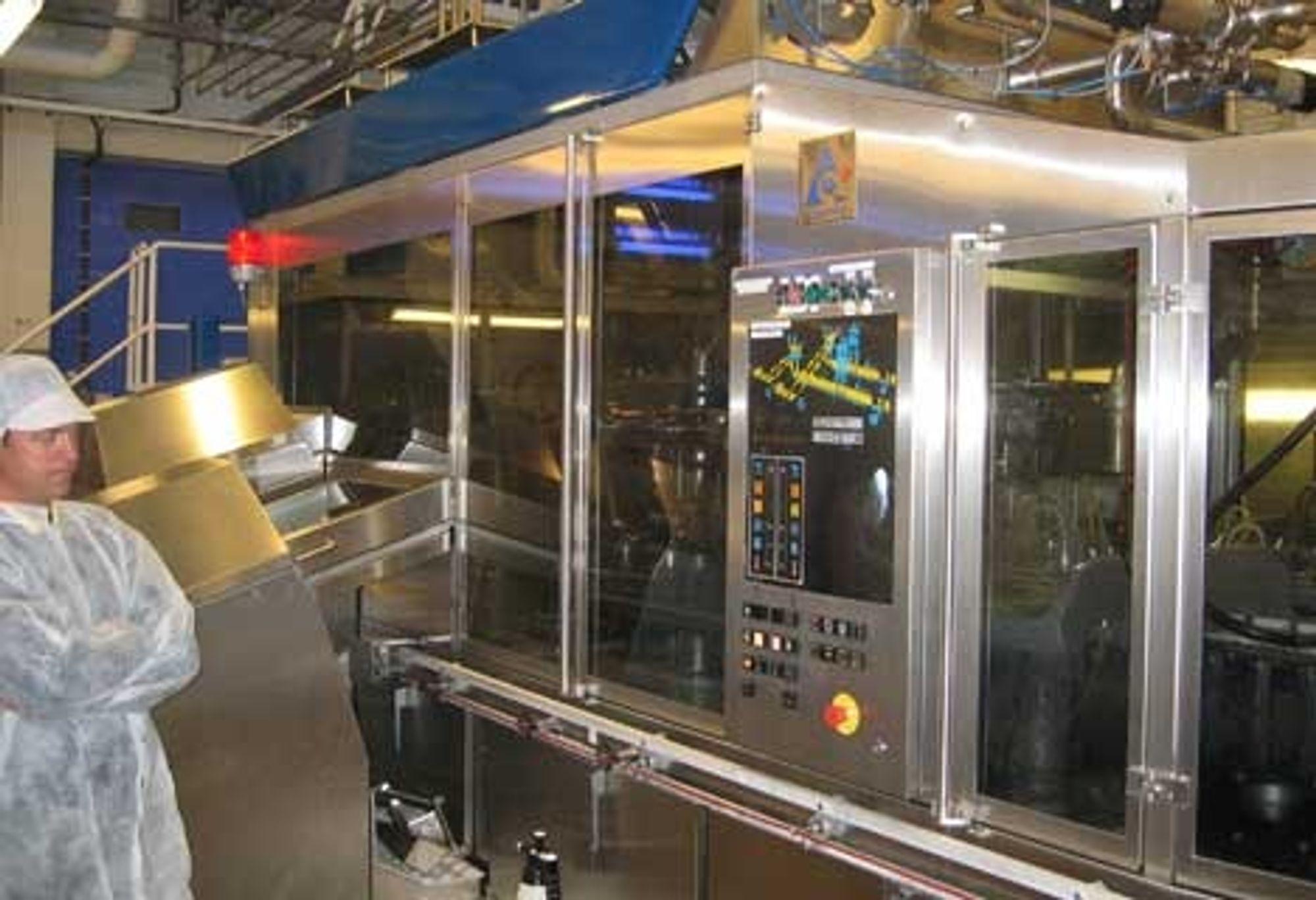 STØTTE: Et system for datainnsamling og OEE-beregninger for produksjonslinjer leveres til tapperiet på Tine Vest i Bergen.