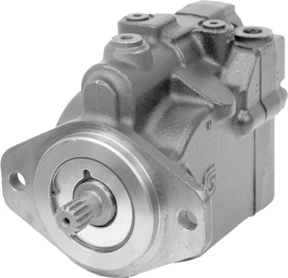 VRIS: Den regulerbare skråplaten gjør at du kan stille pumpe/motor helt ned til null. Foto: Sauer-Danfoss