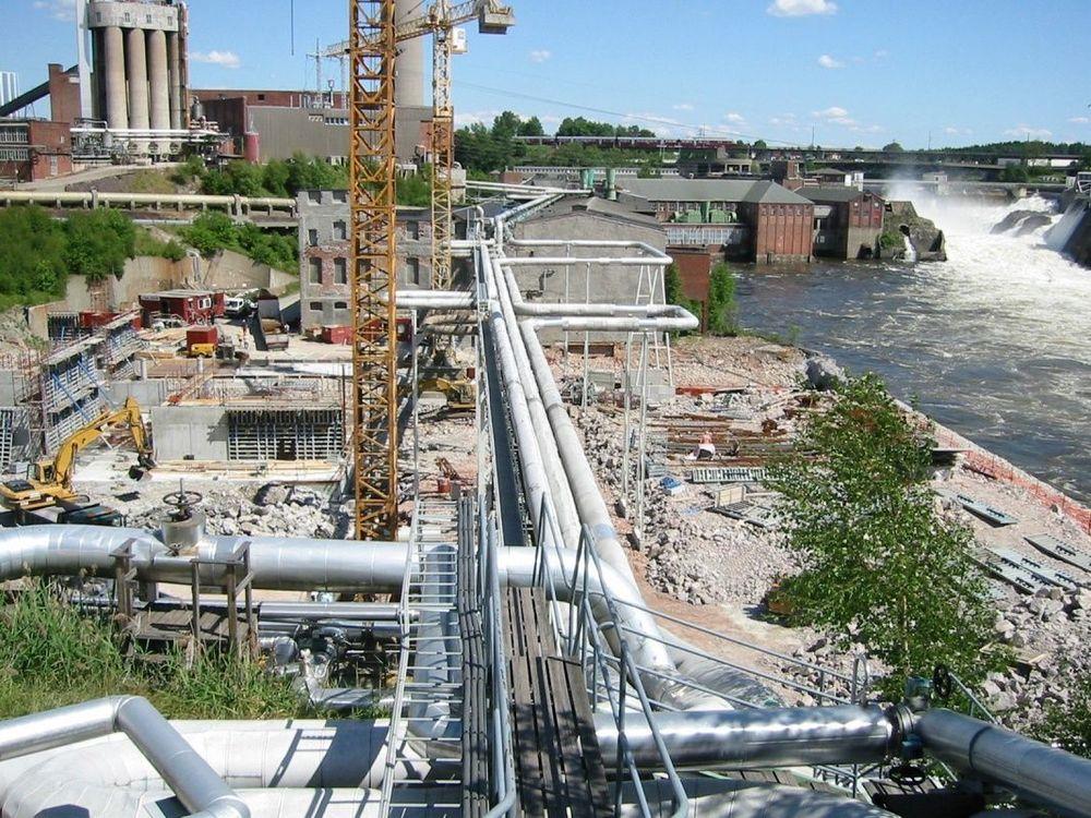 Orkla markerer at de vil satse videre på Borregaard og industriproduksjon ved å legge Elkem og Sarpsborg-elskapet i samme virksomhetsområde. bilde ra utbyggign av nytt vannverk til Borregaard i Sarpsborg.