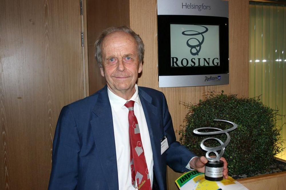 HEDER: Lars Monrad-Krohn har vært nominert til Rosings hederspris også tidligere. I år ble trofeet hans.