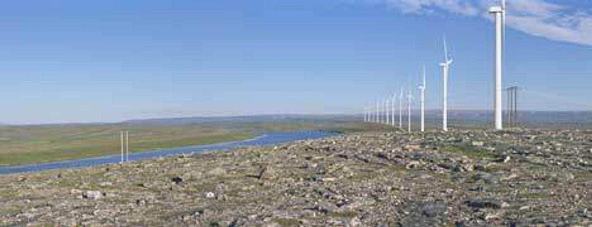 HØYDEDRAG: Skallhalsen vindpark i Vadsø kommune skal bygges av Statkraft med en installert effekt på 40 til 65 MW. Vindparken plasseres på et høydedrag ved Skallhalsen. ILL: STATKRAFT