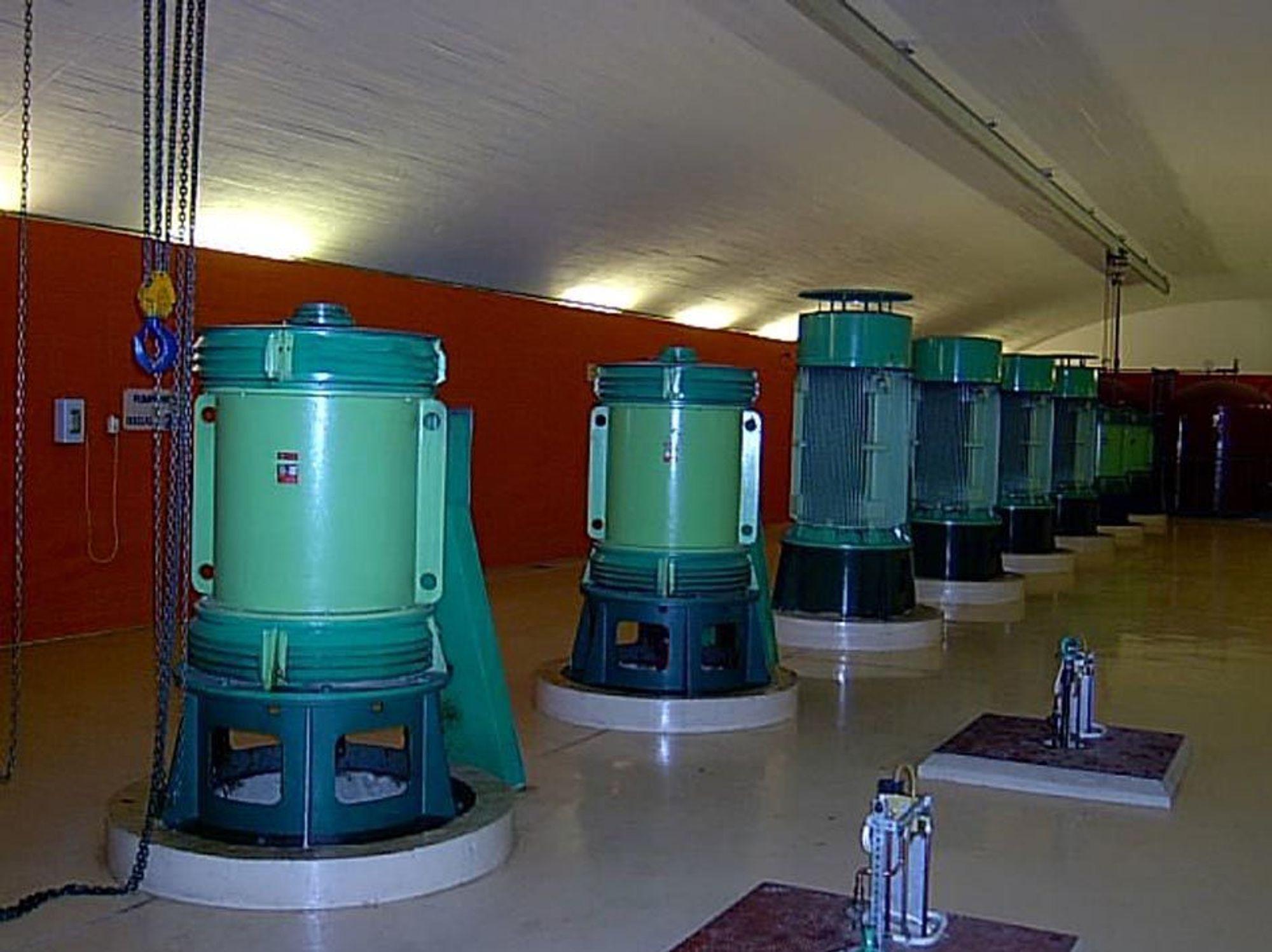 PUMPER: I Oset vannrenseanlegg er det installert åtte høytrykkspumper på 540 kW. Pumpeanlegget har et potensielt effektuttak på 3,5 MW.FOTO E-CO TECH