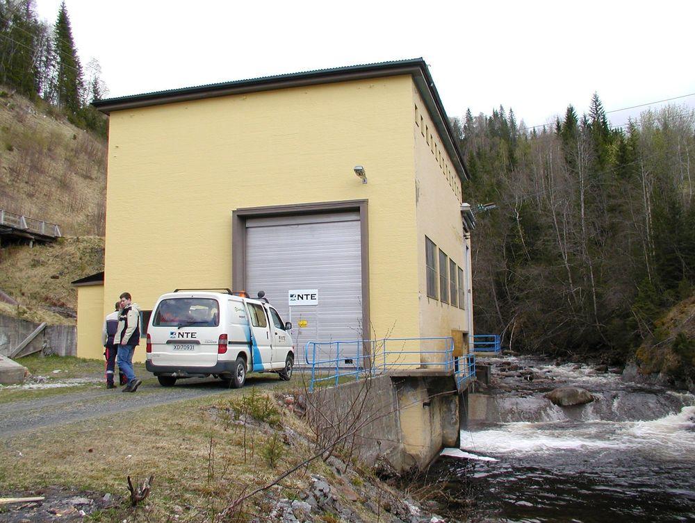 AVLØSES: Det nye verket i Funna skal bygges like ved det gamle kraftverket.FOTO: NTE