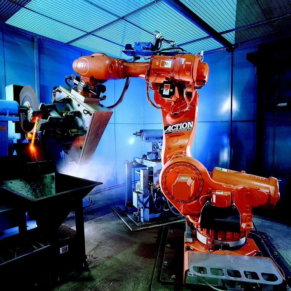 TUNG BROR: Sverige har en mye tyngre verkstedindustri enn Norge, og satser neste år  på å holde eller helst øke produktiviteten. Her kommer automatisering og moderne maskiner inn for fullt. FOTO:ABB