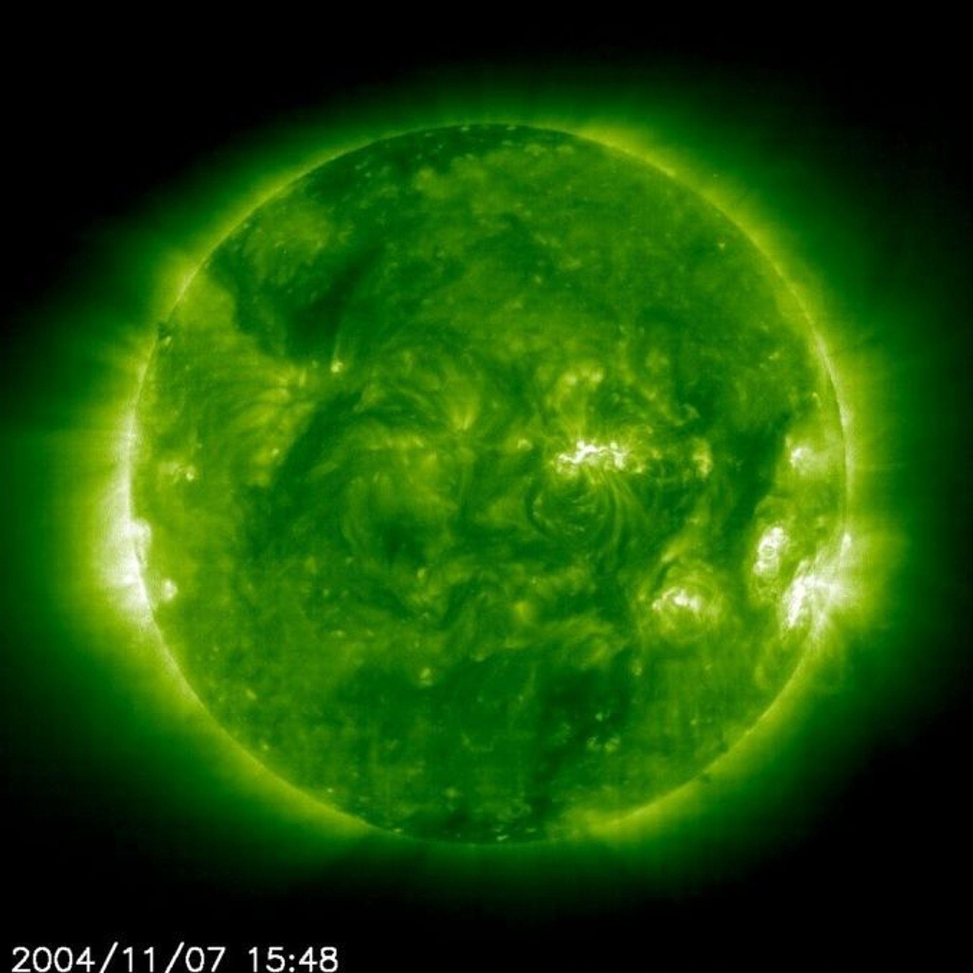 GRØNN KRAFT: Europeiske forskere går sammen om å utvikle energiløsninger basert på solens varme stråler. Forskningen skal konsentrere seg om å finne lagringsmetoder for energien.FOTO: NASA/SOHO