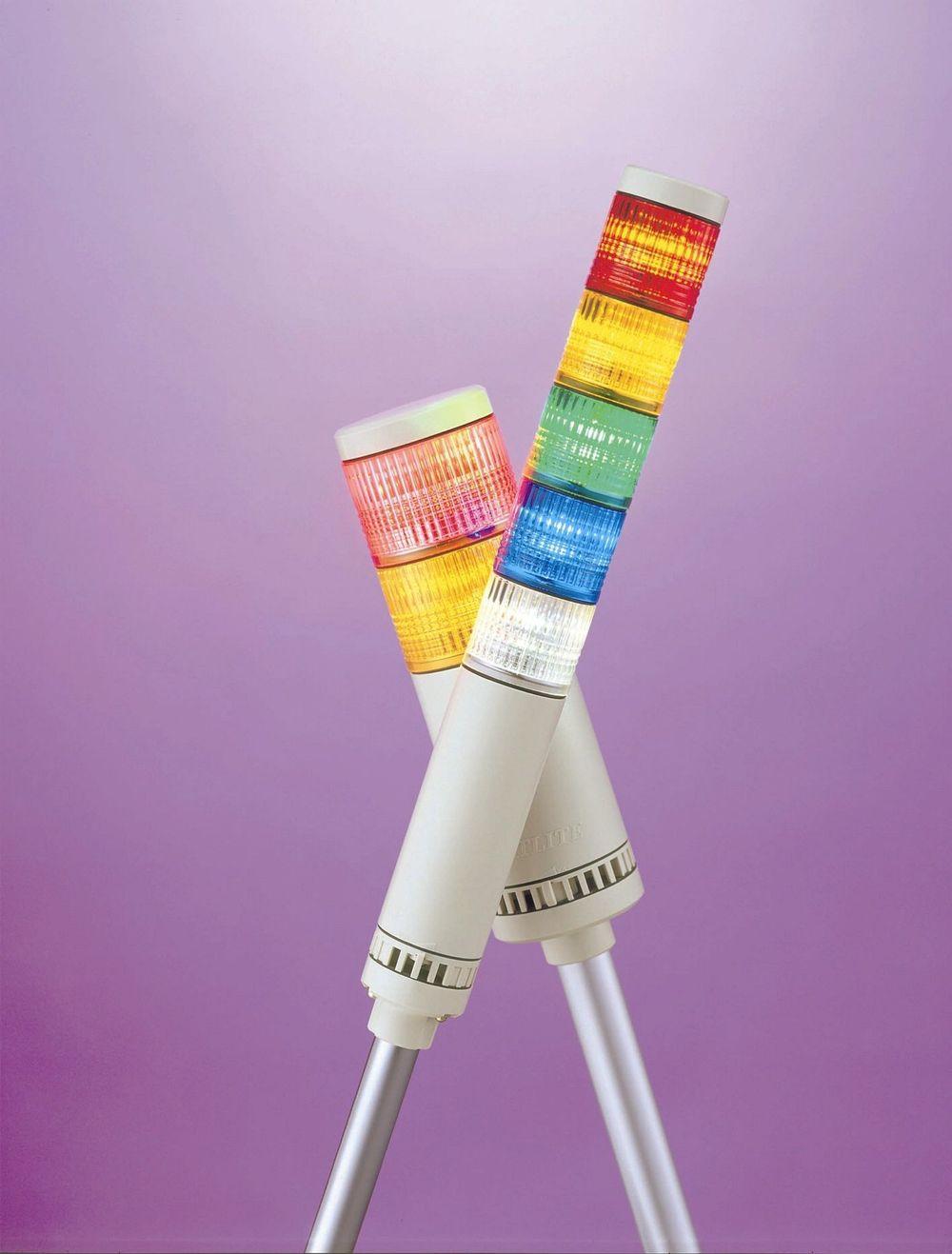 LETT Å SE: Den runde formen på LED-lampene i lystårnet gjør at varslingslyset lett sees fra alle kanter og på lang avstand.
