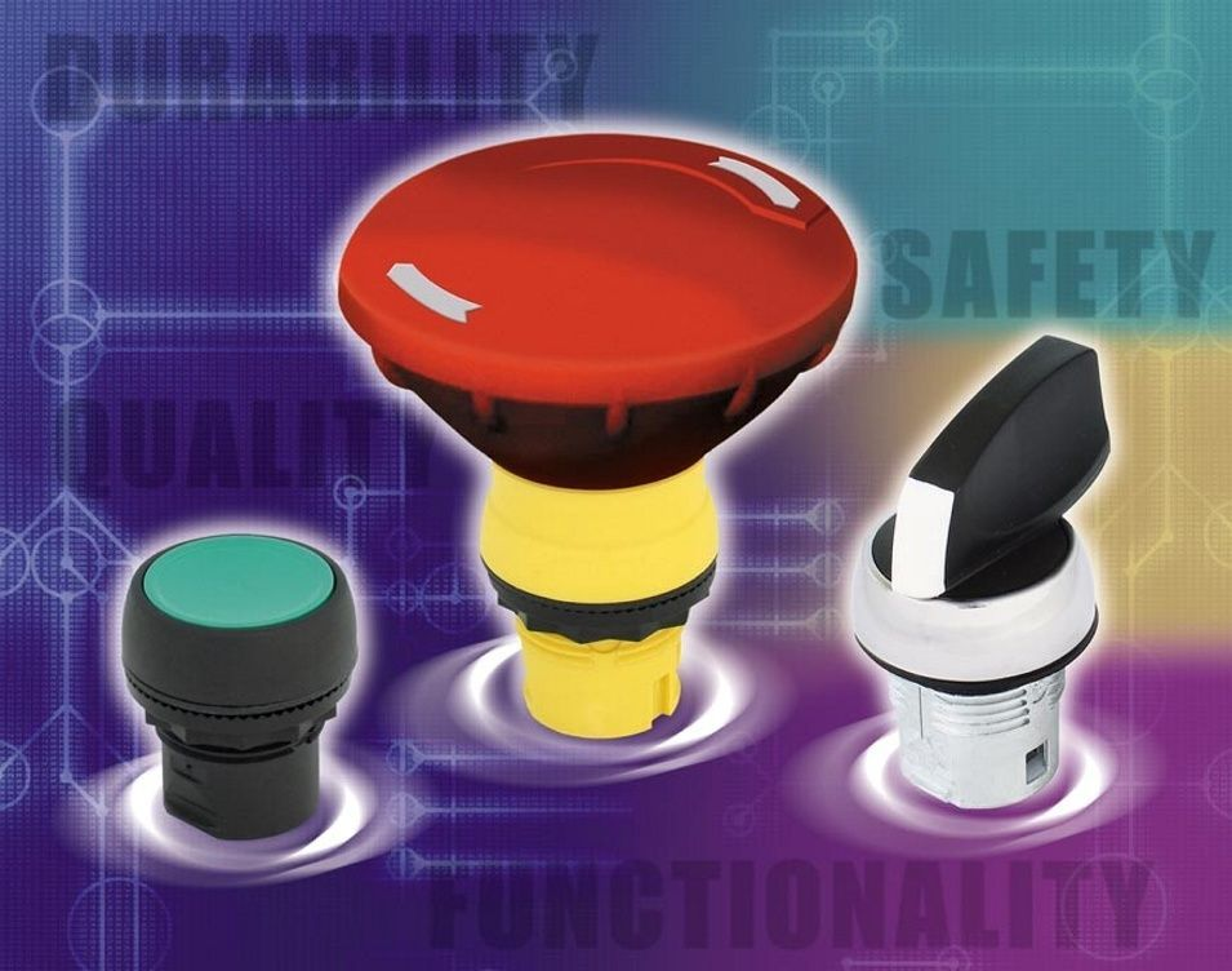 KNAPPER: En ny generasjon 22,5 mm trykknapper og lamper er på vei fra Triple-S AS.