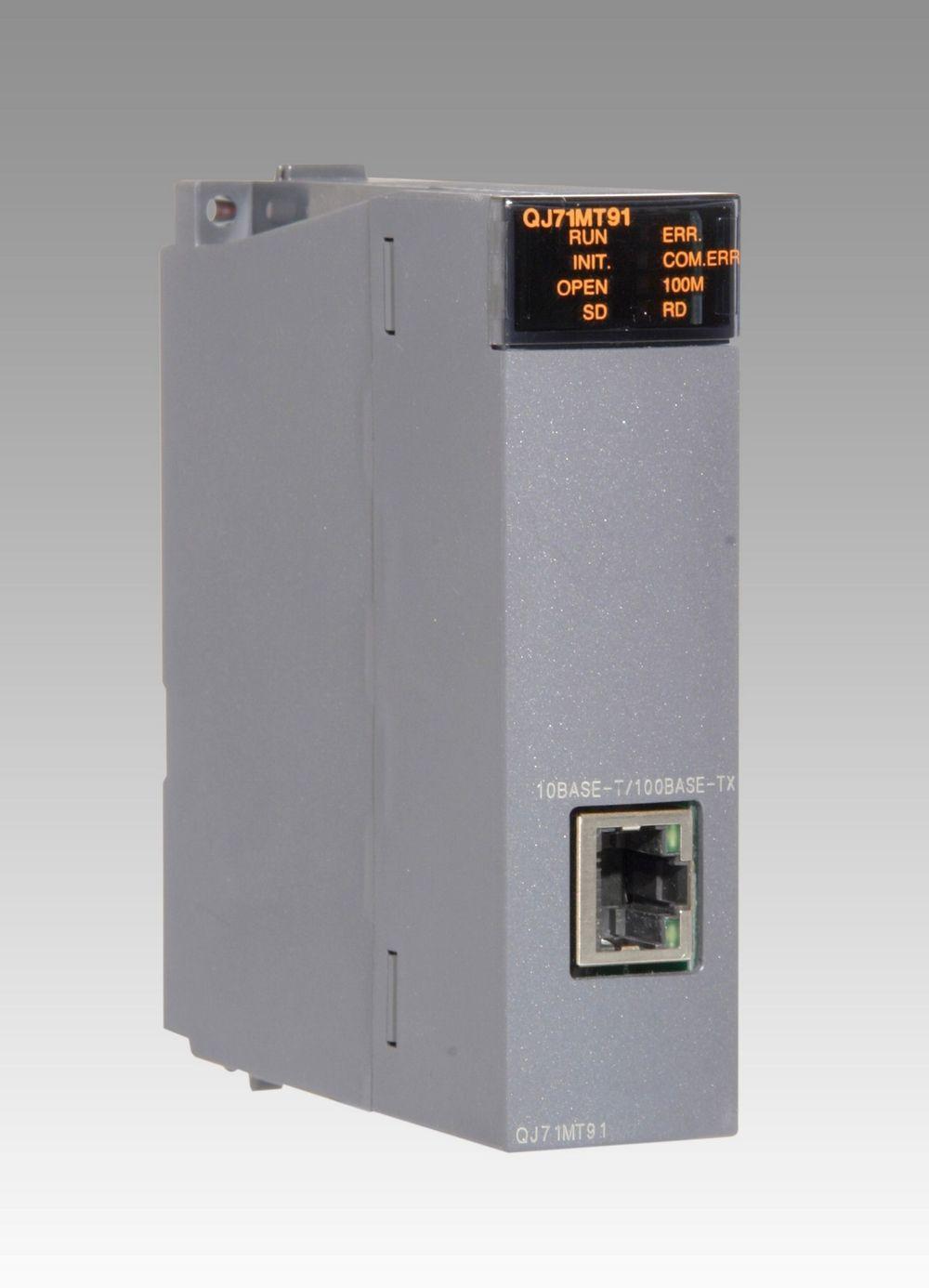 UTVIDER: En ny Mitsubishi master-/slavemodul ved navn QJ71MT91. Den kobles inn på Ethernet og kommuniserer der via Modbus/TCP. Slik utvider du systemmulighetene.