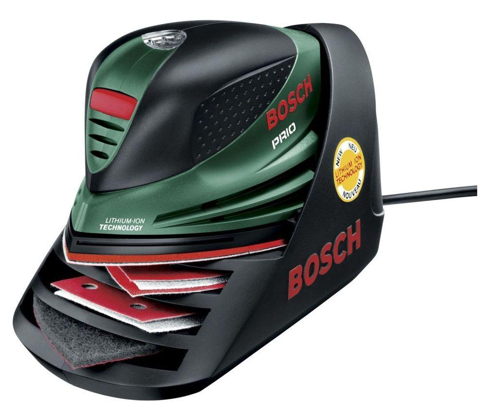 LADER OG LAGRER:Laderen til den nye batterislipemaskinen fra Bosch er også et lager for slipepapir.