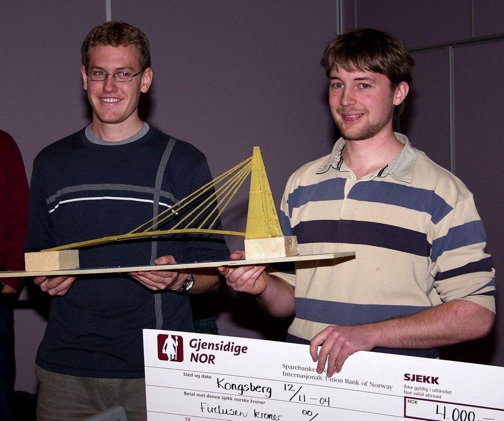 STREKKSTAG: Brua som Jonas Kjølstad og Andreas Rasmussen laget i spagetti, var både vakker og sterk.  FOTO:AJS