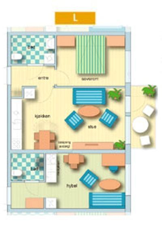 STARTBO:Skisse av en type leilighet med utleiedel.Ill: Startbo