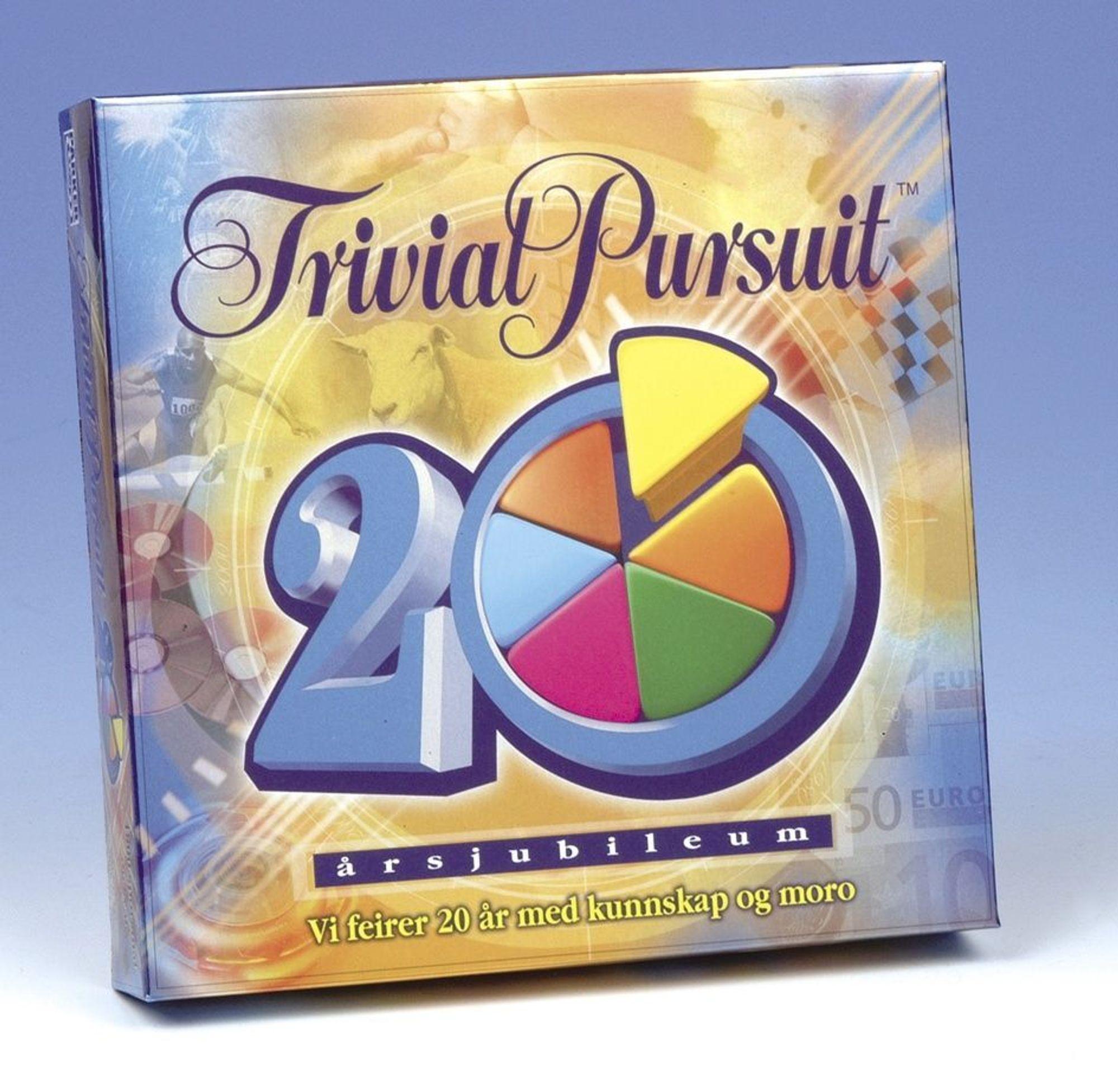 HUSKER DU? 20-års utgaven til Trivial Pursuit inneholder 1800 spørsmål fra de siste tyve årene.