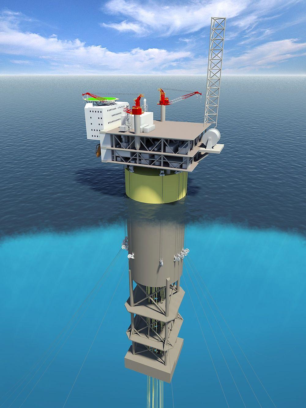 Dyp: Det kreves dyp fjord for å reise spar-plattformen.