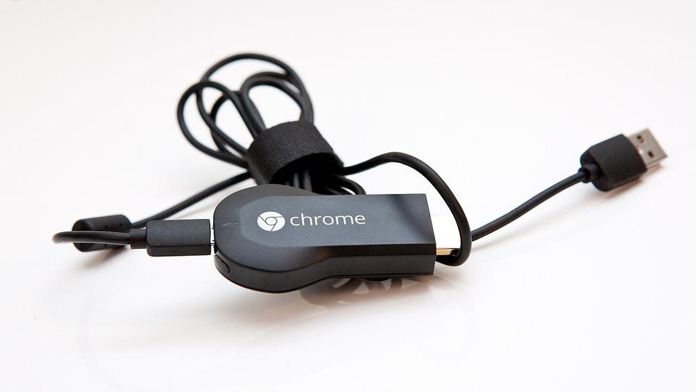 Viaplay støtter nå Googles mediapinne Chromecast. Foto: Stein Jarle Olsen.