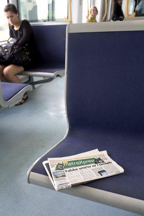 MetroXpres i Metroen og flyder.