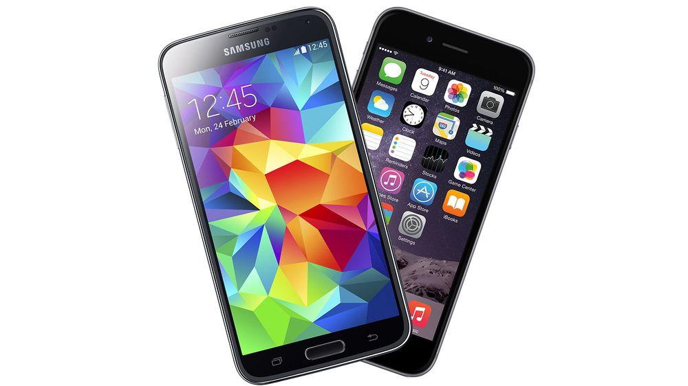 Samsung er fortsatt størst i smarttelefonmarkedet, men har markedsandelene krymper. Apple vokser litt, ifølge Gartner.