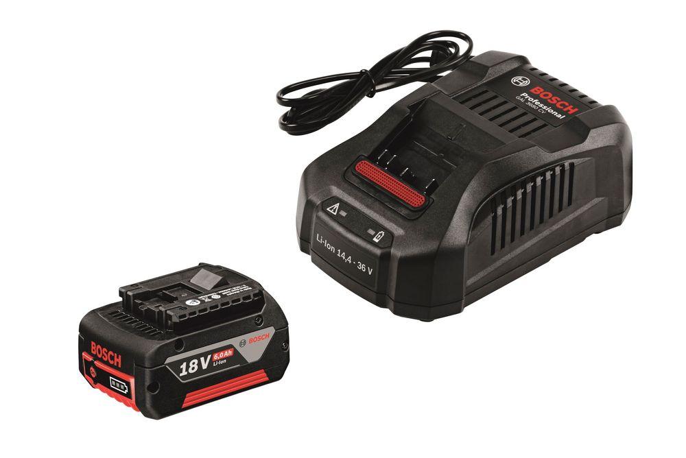 Kraftpakke: Bosch har hevet batterilista til 6 Ah på sitt nye 18 volt batteri og kansert en mini hurtiglader som kan ta seg av alt fra 14,4 volt til 36 volt batterispenning.