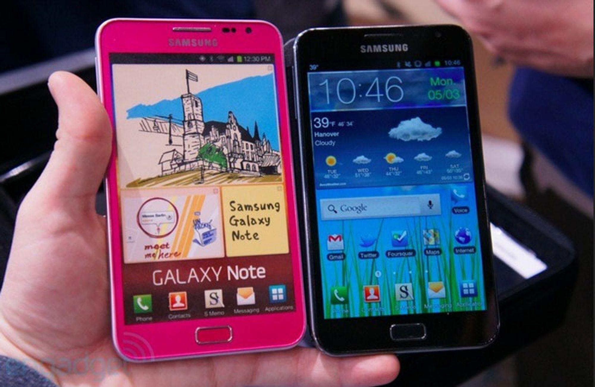 Samsung Galaxy Note kommer i rosa