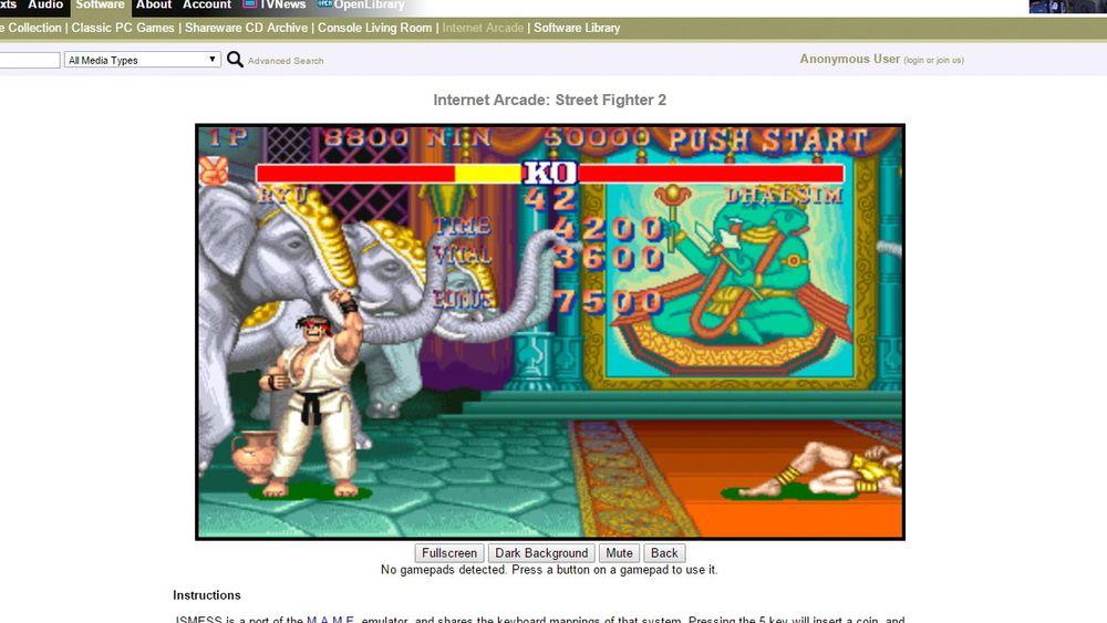 Internet Archive lanserte denne uken Internet Arcade, som har en samling med over 900 arkadespill fra 70- til 90-tallet.