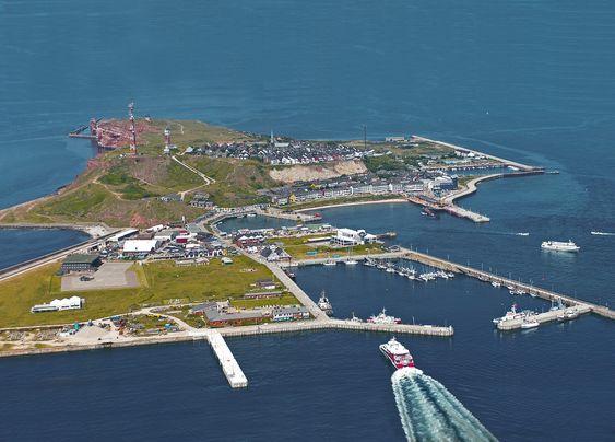 Gasshavn: Øya Helgoland i Nordsjøen utenfor Tyskland blir hjemhavn for en ferge som skal gå på naturgass fra desember 2015.