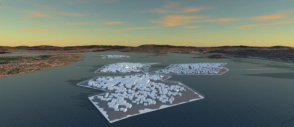 Hver av de fire øyene skal ha sitt eget sentrum, broer seg imellom, og et avansert grid-system med  poder.