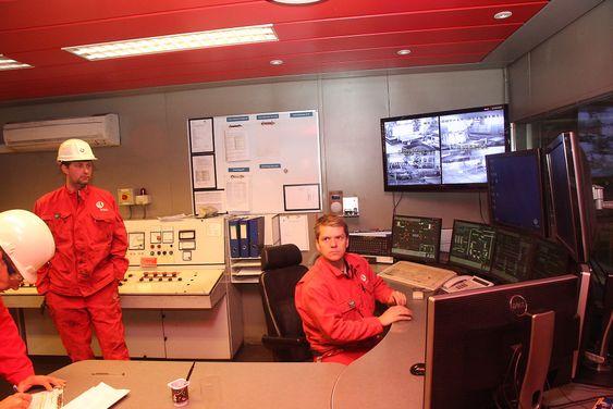 Oversikt: Kontrollrommet for anodefabrikken på Årdalstangen.