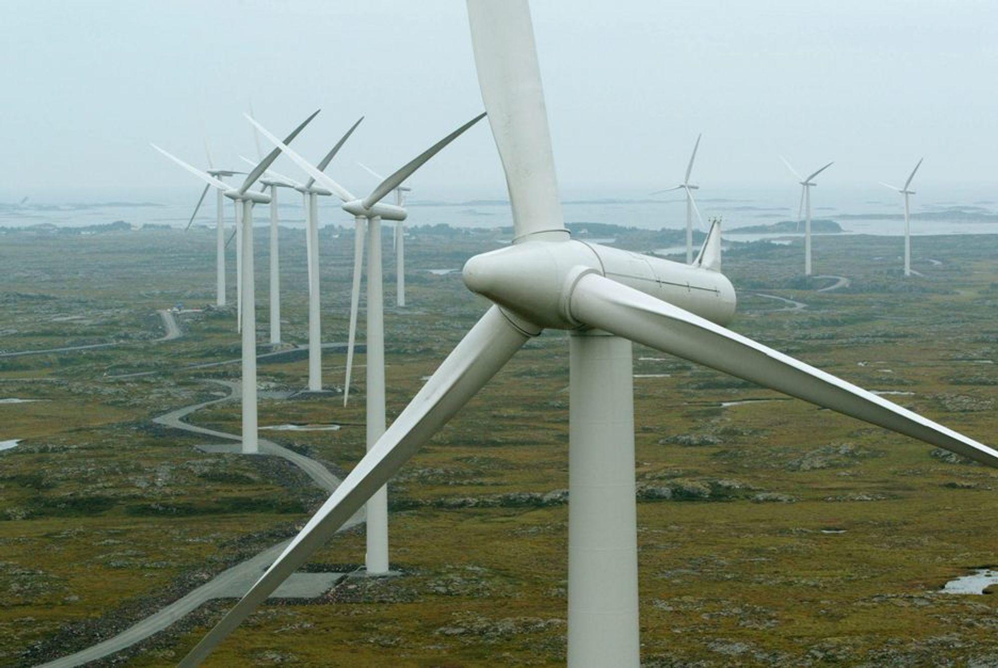 Teknologiutvikling: Antall fullasttimer ved norske vindkraftverk har økt de siste årene årene etter hvert som både teknologien og kunnskapsnivået i bransjen har utviklet seg, ifølge NVE.
