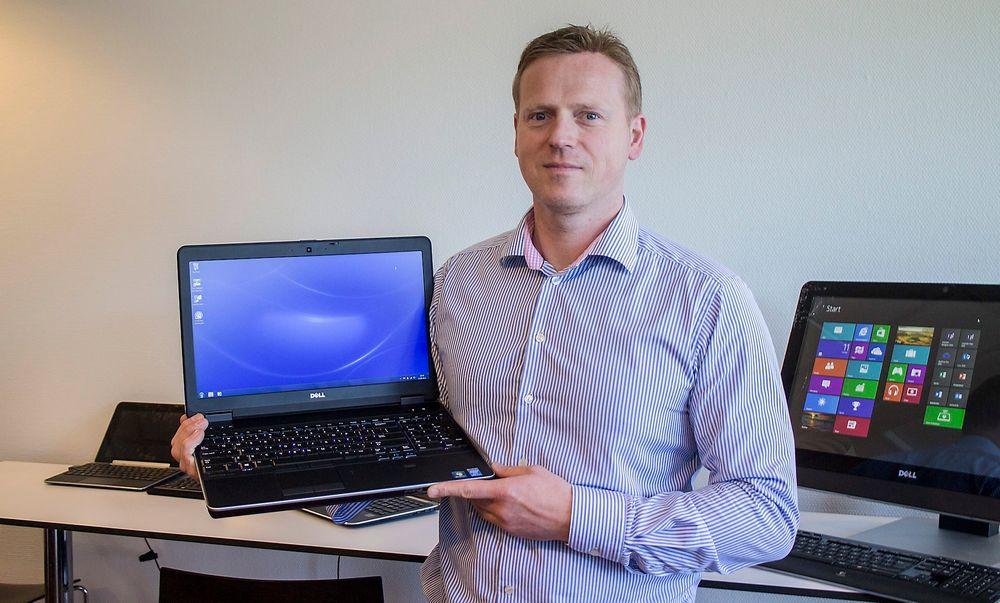 Supersikker: Den nye 7000-klassen i Latitude-serien vil i følge produktsjef for forretnings-PC-er i Dell, Ivar Follestad, være  den sikreste på markedet.