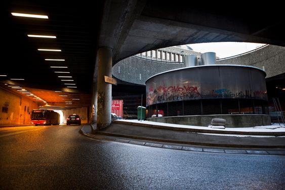 RISIKO: Ring 1, Hammersborgtunnelen går rett under Y-blokka og utgjør en mulig risiko.