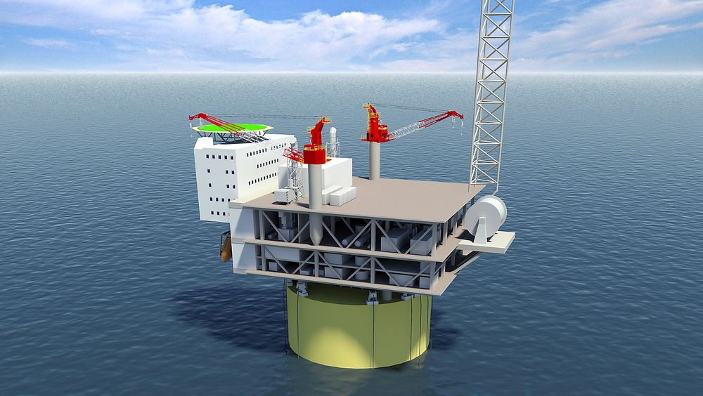 Statoil har tildelt flere selskaper kontrakter for gassfeltet Aasta Hansteen i Norskehavet. Illustrasjon: Technip.