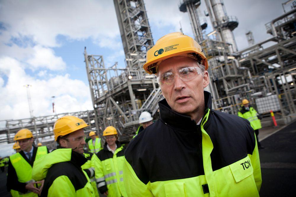 Flaut: Statsminister Jens Stoltenberg var stolt da TCM åpnet for et år siden. I dag stilte han ikke opp for å fortelle om nederlaget om å droppe fullskala-anlegget. Foto: Håkon Jacobsen